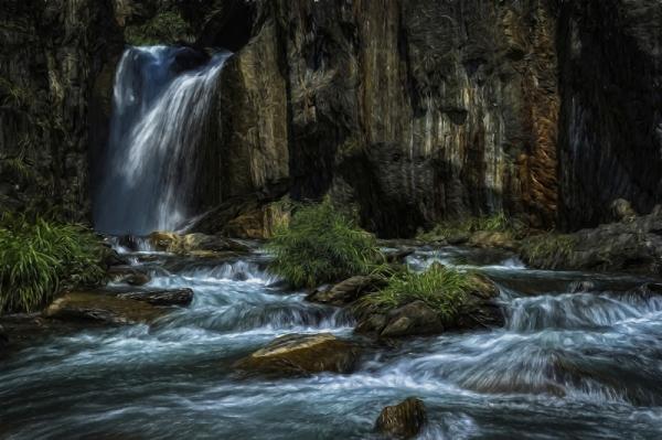 """Фотообои """"Водопад. Быстрая река"""""""