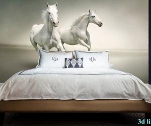 """Фотообои,,Белые кони"""""""