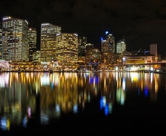 Фотообои на стену Ночной город. Огни ночного города на фотообоях.