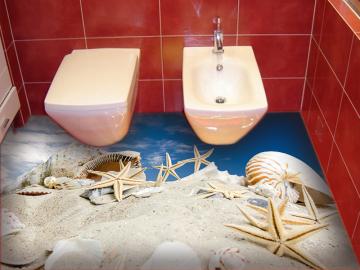Наливной пол в туалет