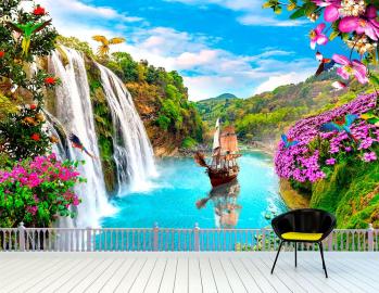 Фотообои Водопад на стену