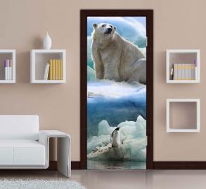Фотообои на двери самоклеющиеся. Дизайн дверей фотообоями с изображением.
