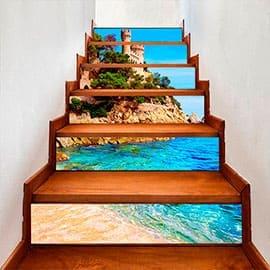 Обои для лестницы в доме