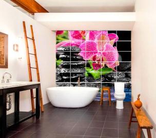 Кафельная плитка для ванны с рисунком Разное