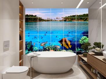Плитка Морская тематика в ванной