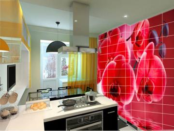 Керамическая плитка с рисунком для кухни