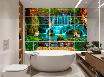 Плитка для ванны с изображением купить ВОДОПАДЫ