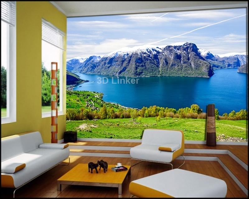 """Фотообои Вид """"Озеро в горах. Норвегия"""" визуализация №3"""