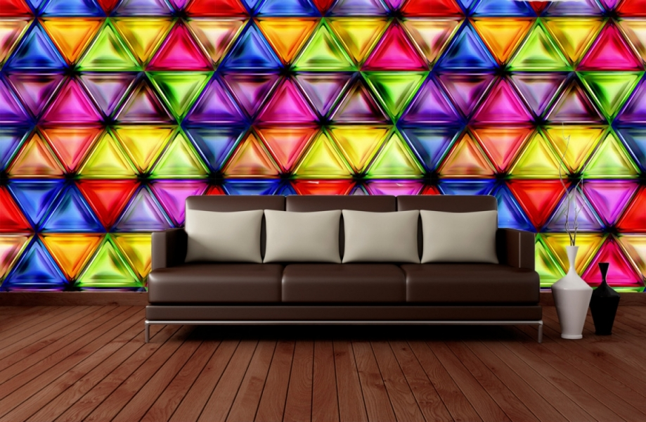 Фотообои 3д абстракция на стену в интерьере №2