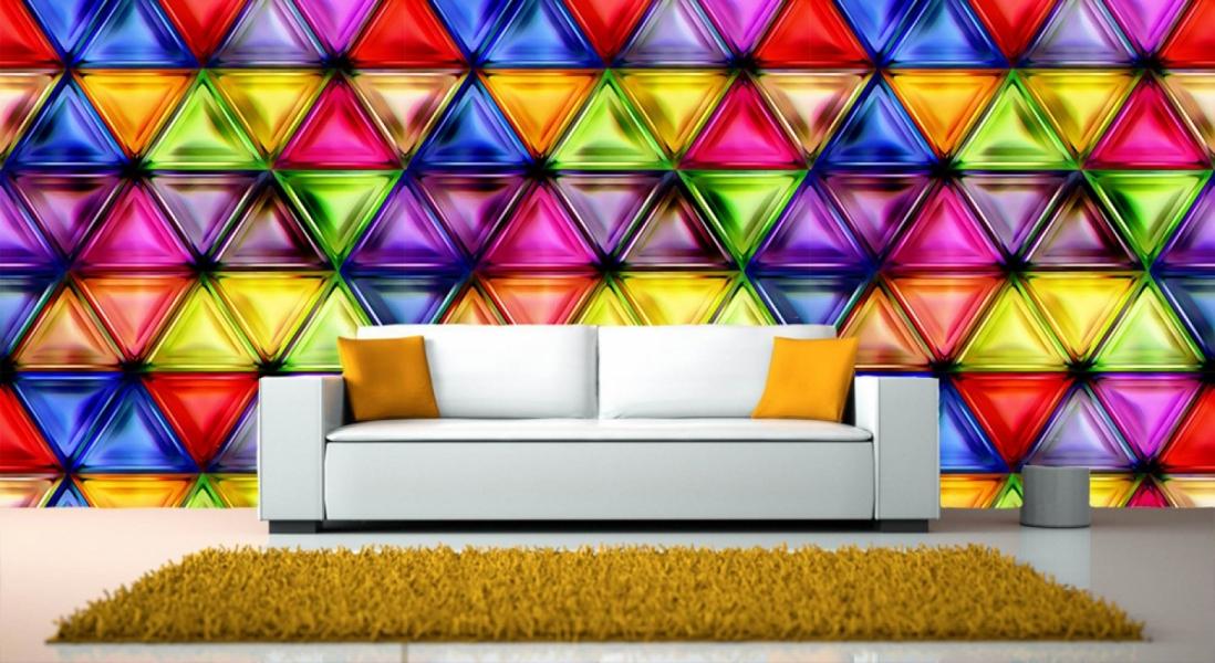 Фотообои 3д абстракция на стену в интерьере №1