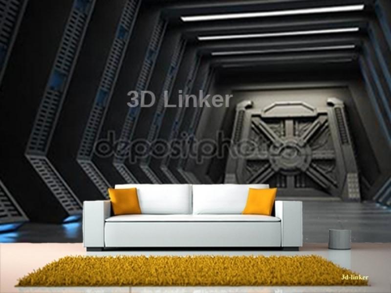 """Фотообои на стену купить """" Дверь космического корабля"""" визуализация №1"""