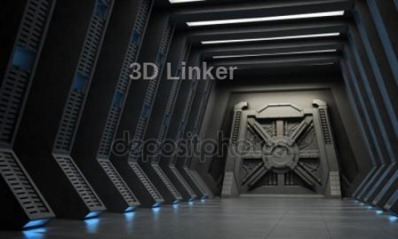 """Фотообои на стену купить """" Дверь космического корабля"""""""