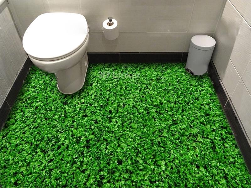 """Обои для пола в комнату """"Густая газонная трава"""" купить визуализация №3"""