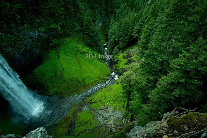 """Фотообои купить самоклеющиеся """"Зеленое ущелье. Водопады"""""""