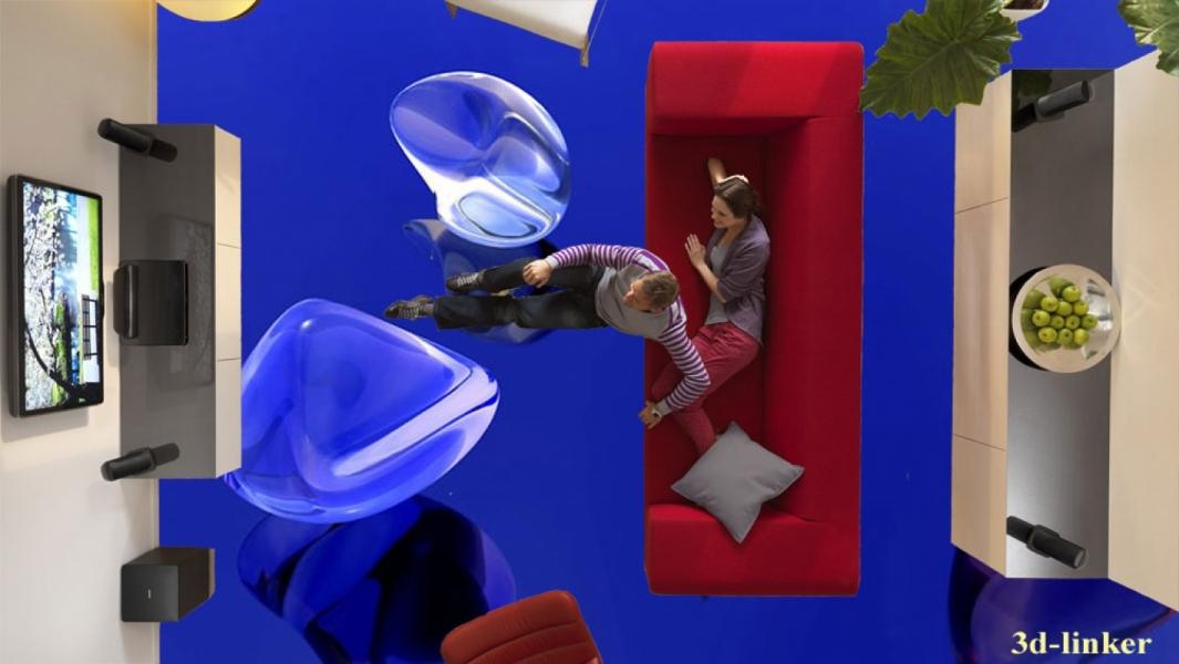 """3D обои для пола Фото Цена """"Стеклянные камни"""" вариант №2"""