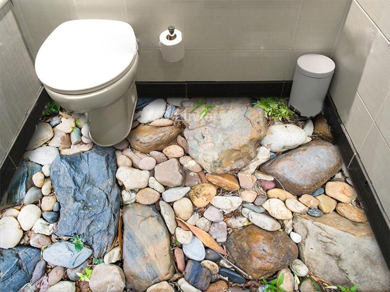 """Линолеум с рисунком """"Камни большие и маленькие"""" визуализация №1"""