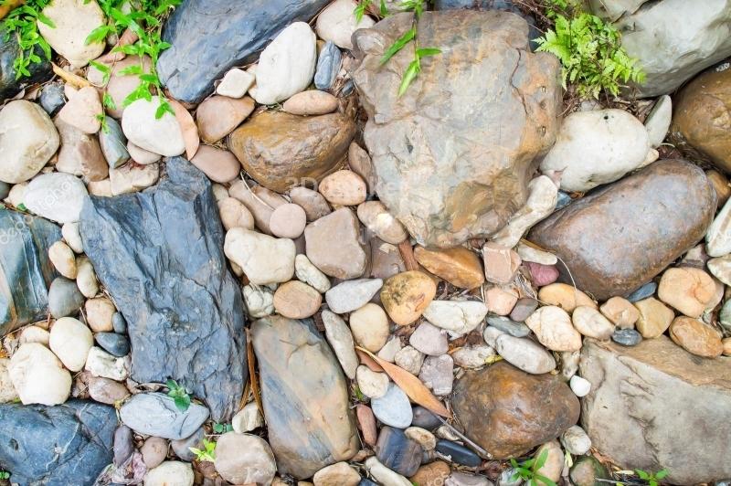 """Линолеум с рисунком """"Камни большие и маленькие"""""""