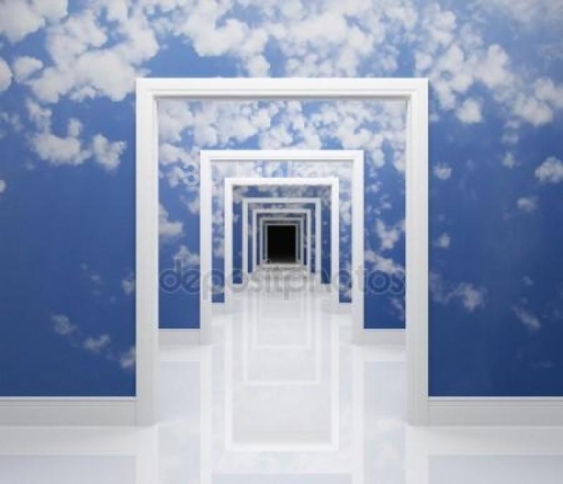 """Фотообои на стену купить """"Небо, проход"""" вариант №2"""