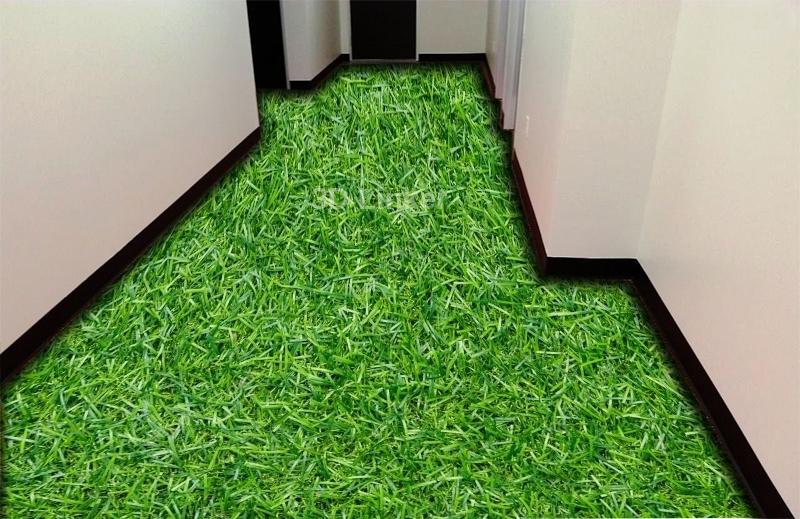 """Линолеум с рисунком """"Густая трава"""" визуализация №1"""