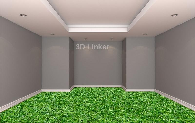 """Линолеум с рисунком """"Густая трава"""" визуализация №2"""