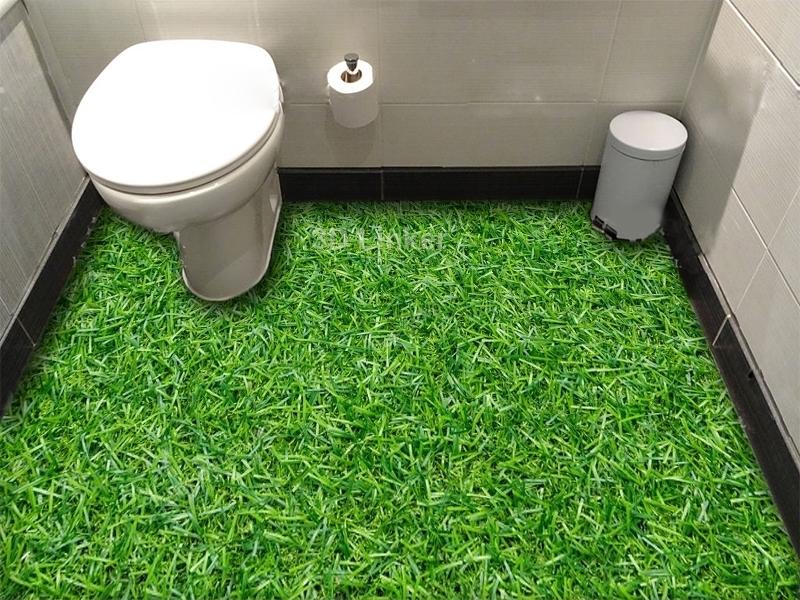 """Обои для пола в комнату """"Густая трава"""" купить визуализация №1"""
