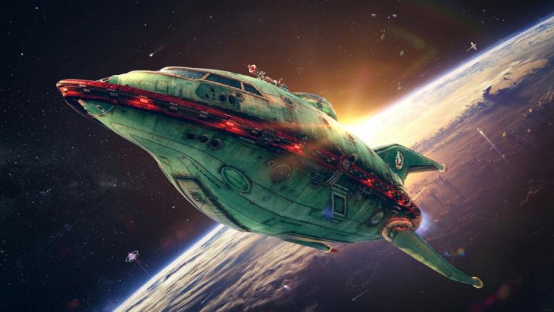 """3D обои для пола Фото Цена """"Космический корабль"""""""