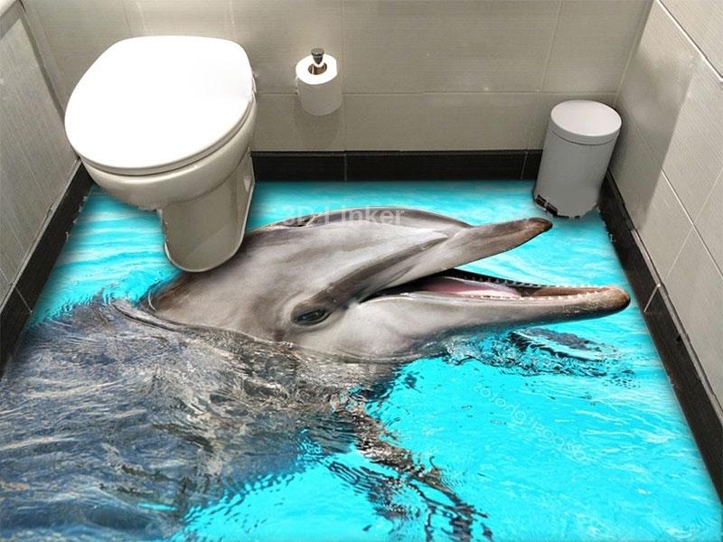 """Обои для оклейки пола """"Дельфин"""" купить визуализация №1"""