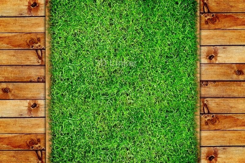 """Линолеум на веранду """"Трава, деревянные доски"""" в интерьере №3"""