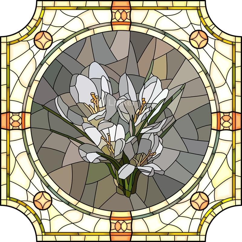 """Линолеум Витраж """"Цветы лилии"""" в интерьере №3"""