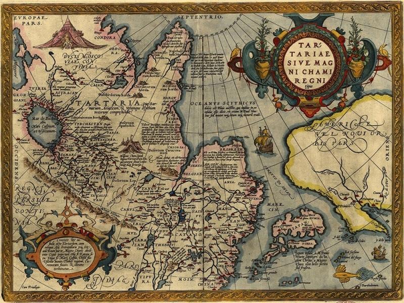 """Столешница с рисунком """"Карта Азия"""""""