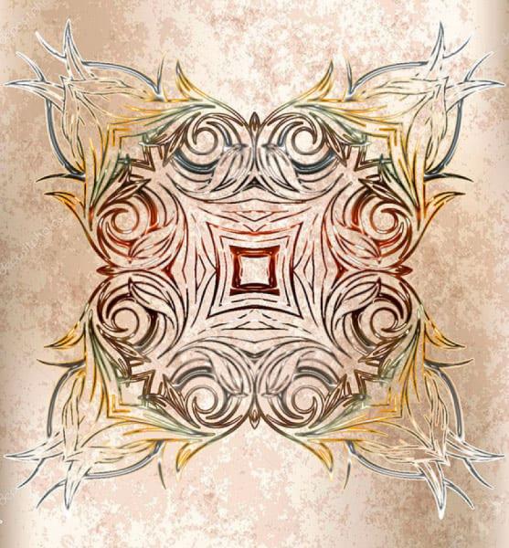 Напольное покрытие с орнаментом СИММЕТРИЧНЫЙ УЗОР