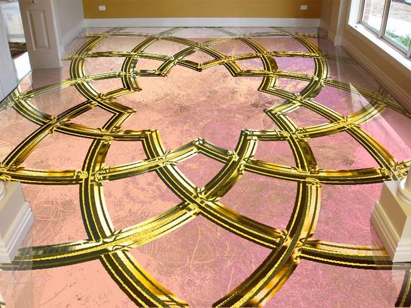 Напольное покрытие с орнаментом ИСЛАМКИЙ УЗОР в интерьере гостиной