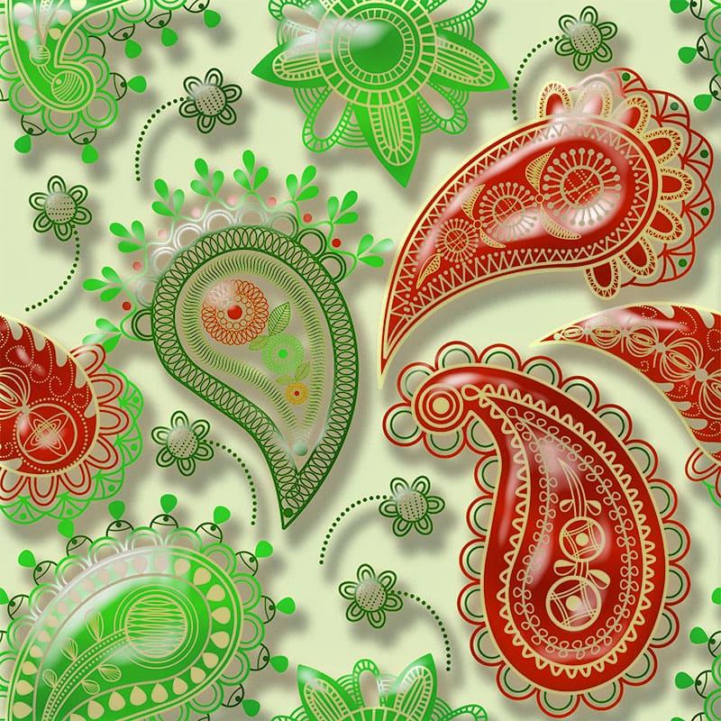 Напольное покрытие с рисунком Обои, Линолеум ВОСТОЧНЫЙ УЗОР 3D-2