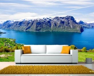 """Фотообои Вид """"Озеро в горах. Норвегия"""""""