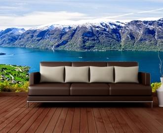 """Фотообои Вид """"Озеро в горах. Норвегия"""" визуализация №2"""
