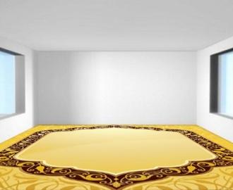 """Обои для пола в комнату купить """"Желтый пол"""""""