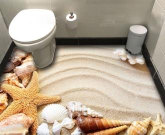 """Линолеум  """"Песок, ракушки, кораллы"""". Напольное покрытие купить."""