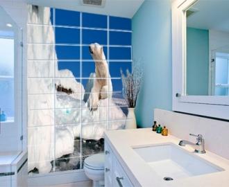 Плитка с фотопечатью в ванную АЙСБЕРГ БЕЛЫЙ МЕДВЕДЬ