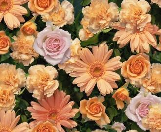 """Линолеум с рисунком """"Розы на траве"""" купить"""