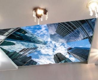 Светящаяся наклейка на потолок НЕБОСКРЕБЫ