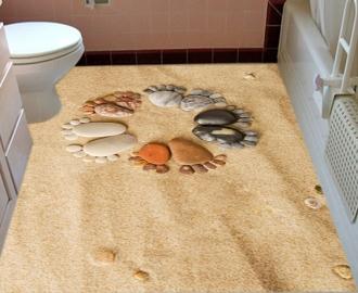 """Линолеум """"Песок, камушки, рисунок"""". Напольное покрытие купить."""