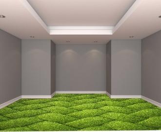 """Линолеум с рисунком """"Трава плетенка, ковер"""" купить визуализация №2"""