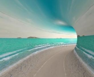 """Фотообои на стену купить """"Морской тоннель"""""""
