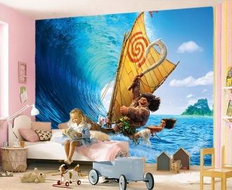 """Фотообои для детской комнаты """"Моана, парус"""" . Фото, цена."""