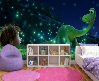 """Фотообои для детской комнаты """"Динозаврик и Дружок. Ночь"""". Фото, цена."""