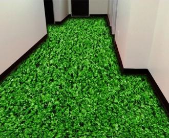 """Линолеум с рисунком """"Густая газонная трава"""" купить визуализация №1"""