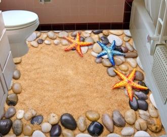 """Линолеум  """"Желтый песок, камешки, ракушки"""". Напольное покрытие купить."""