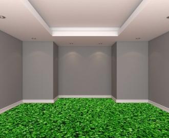 """Линолеум с рисунком """"Густая газонная трава"""" купить визуализация №2"""