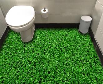 """Линолеум с рисунком """"Густая газонная трава"""" купить визуализация №3"""