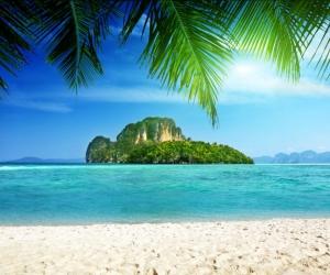 """Плитка керамическая """"Остров. Тропики рай"""". Фотопечать на плитке."""